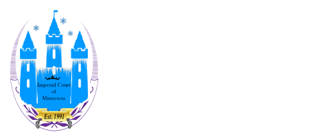 Imperial Court of Minnesota Logo and Wordmark in White